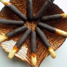 Caramel and Chocolate Cookie Sticks