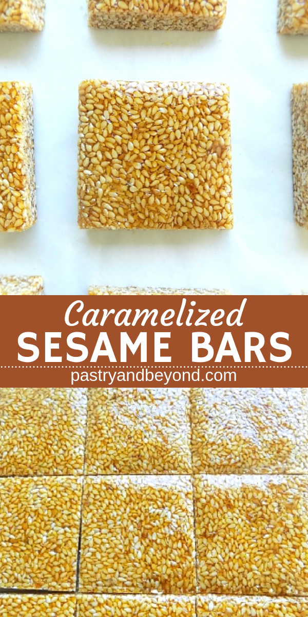 Caramelized Sesame Bars