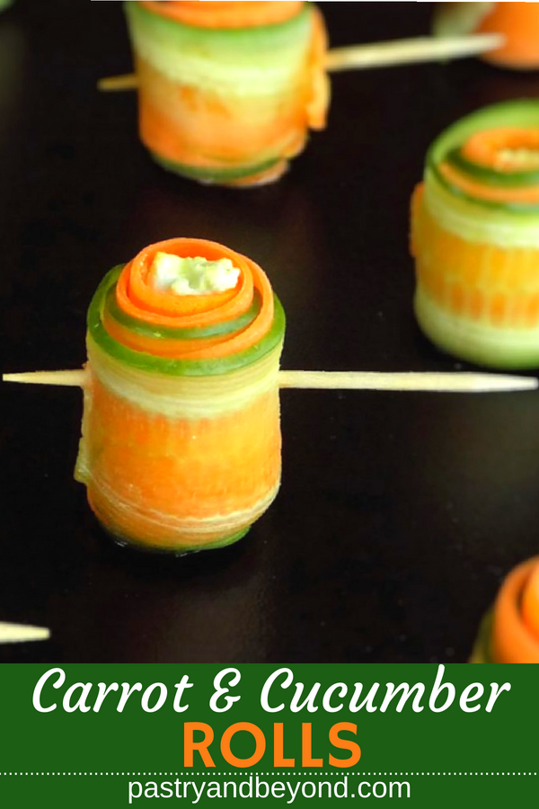 Healthy Carrot and Cucumber Rolls
