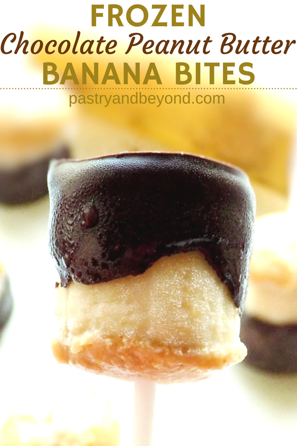 Frozen Banana Bites with Peanut Butter